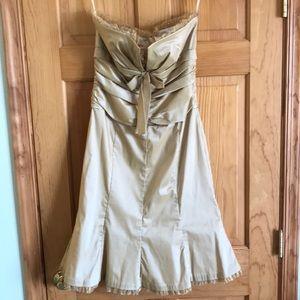 Donna Ricco strapless gold dress, size 10